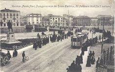 Verona - Inaugurazione Tram Elettrico - 26-10-1908