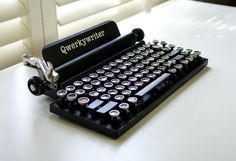 Retro-Themed Mechanical Keyboard Qwerkywriter