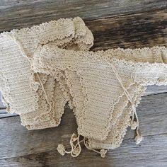 hope & may Bikinis Crochet, Crochet Bikini Top, Knit Crochet, Pinterest Crochet, Mode Boho, Crochet Woman, Bikini Fashion, Crochet Clothes, Ibiza