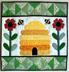 bee+quilt+template   Bee Hive Wall Quilt Pattern