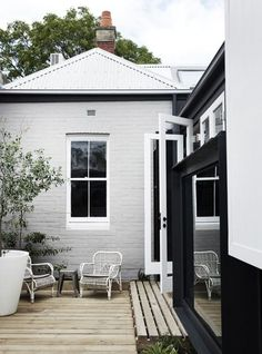 Exterior Paint Colors - You want a fresh new look for exterior of your home? Get inspired for your next exterior painting project with our color gallery. Exterior Color Schemes, Exterior Paint Colors, Exterior House Colors, Paint Colors For Home, Exterior Design, Grey Exterior, Colour Schemes, Exterior Shutters, Exterior Homes