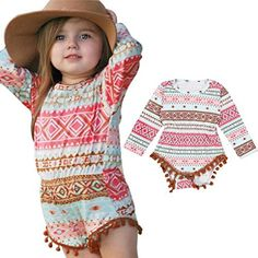 Baby Princess Floral Romper,BeautyVan 2017New Fashion Cartoon Newborn Toddler Infant Baby Girl Aztec Romper Jumpsuit Bodysuit Outfit Clothes (12M, Multicolor)
