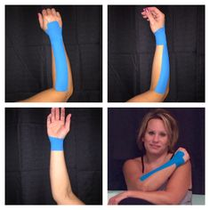 Taping the wrist with kinesio tape