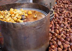 Autumn is synonymous with the smell of roasting chestnuts on the streets of Seoul.  For just a few bucks, the nuts are a great snack on a chilly day.
