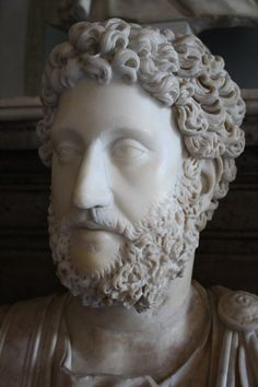 A marble bust of Roman emperor Commodus, r. 180-192 CE. (The Vatican Museums, Rome).