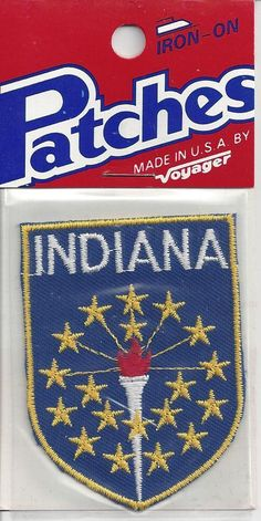 Souvenir Patch State of Indiana Iron On | eBay