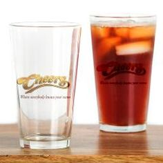 Cheers Everybody Knows Your Name Drinking Glass $14.00