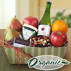 Cascades Organic Fruit and Cider Sampler Gift Basket