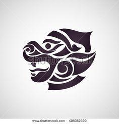 Monkey thai art - stock vector