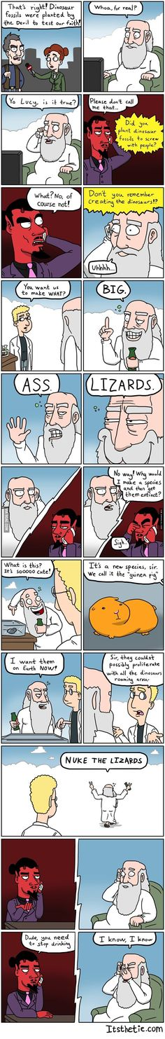 God is an hilarious being