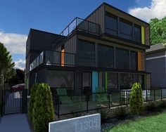 trendy shipping container apartment building