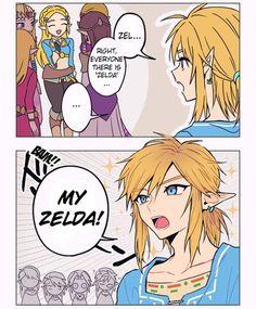 """My"" Zelda - Part videogames The Legend Of Zelda, Legend Of Zelda Memes, Legend Of Zelda Breath, Image Zelda, Cry Anime, Anime Art, Video Humour, Hyrule Warriors, Girls Anime"