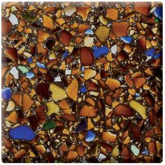 I love this as a kitchen counter Recycled Glass Countertop by Vetrazzo want this every where different colors of course.