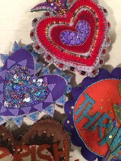 Jane LaFazio's beaded and sequined wool felt pieces, featured in Quilting Arts TV Series 1600. #QATV