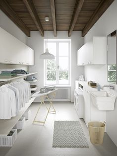 153 laundry design ideas with drying room that you must try -page 14 Room Design, House Interior, Home, Laundry Room Layouts, Interior Design Living Room, Dream Laundry Room, Room Remodeling, Drying Room, Laundry Room Design