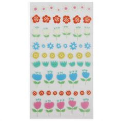Tulips and flowers stickers