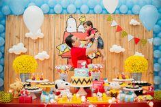 Blog maternidade Meu Dia D Mãe - Festa Menino Pedro 01 Ano - Decoração Snoopy Amarela e vermelha (23)