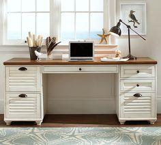 Whitney Rectangular 3-Drawer Cabinet Desk Set