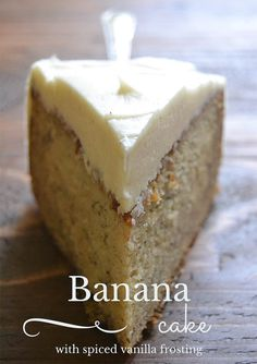 Homemade Banana Cake with Spiced Vanilla Buttercream
