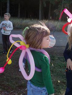 Balloon Fairy Wings by hippeemommy