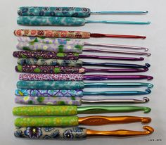 Polymer clay crochet hook covers! I really need to do this soon. I'd like to start making enough of something to actually sell.