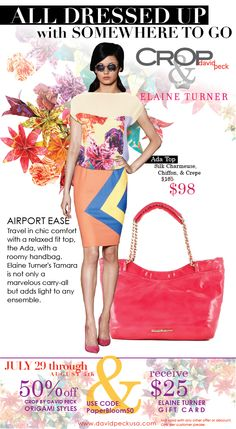 travel at ease in an airy top and statement carry-all, pair the Ada top with @Elaine Hwa Hwa Hwa Hwa Hwa Turner  Tamara