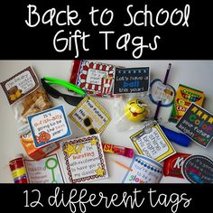 Back to school gift tags - perfect for open house! Glow sticks, candy, popcorn, bubbles and more! Back To School Gifts For Kids, Back To School Party, Back To School Teacher, Meet The Teacher, Beginning Of School, New School Year, First Day Of School, School Survival Kits, Survival Kit For Teachers