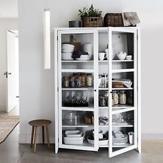 Glass Display Cabinet | Stocked Made To Order Furniture | Furniture | Home | The White Company UK