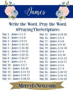 James: Write the Word. Pray the Word.   His Mercy is New