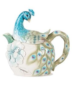 """Peacock Teapot"" from the Edie Rose Collection by ~Rachel Bilson~ 