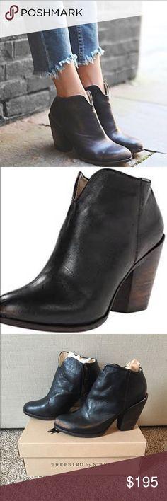 NEW Free People Freebird Detroit Black Ankle Boot Brand NEW Free Bird by Steven Detroit Black distressed Ankle Boot. Purchased at Free people for $275 -Size 8. Free People Shoes Ankle Boots & Booties