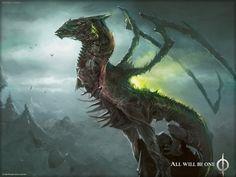 Skithiryx, the Blight Dragon - MtG Art