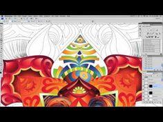 Psychedelic Digital Art in Photoshop  Illustrator CS4 - YouTube