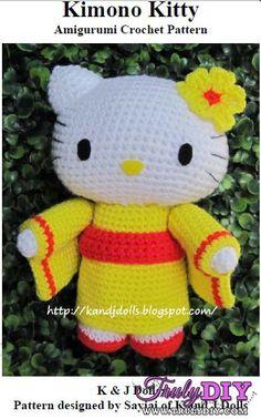 [New]kimono kitty by Sayjai (K and J Dolls)-Free Craft Patterns