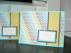 Handmade Thank You Cards Set of 2 Stamped Cards by apaperaffaire, $5.50
