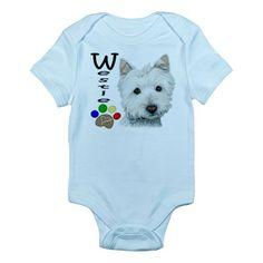 Baby suit for little Westie fans