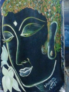 Oil painting of budha