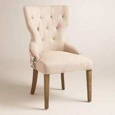 One of my favorite discoveries at WorldMarket.com: Timeless Grace Floral and Natural Linen Maxine Dining Chair