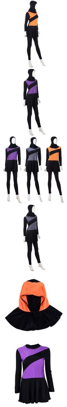 New For Summer Women Islamic Muslim Arab Swimming Beachwear Full Cover Modest Swimwear $19.16