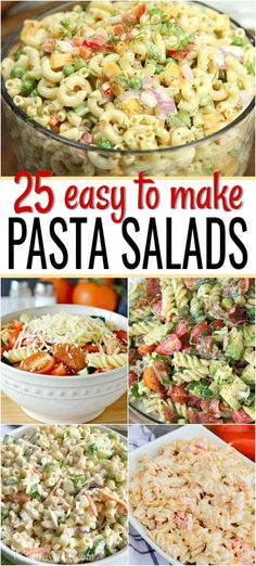 We have 25 Easy Pasta Salad Recipes that are frugal, simple and so tasty. These … We have 25 Easy Pasta Salad Recipes that are frugal, simple and so tasty. These summer pasta salad recipes are perfect for potlucks, barbecues and more. Easy Pasta Salad Recipe, Easy Salad Recipes, Healthy Recipes, Summer Pasta Recipes, Pasta Salad Recipes Cold, Easy Potluck Recipes, Healthy Dishes, Food For Potluck, Easy Dishes For Potluck