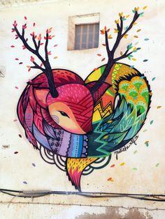 JULIETA XLF, arte urbano Fanzara, Valencia, Digerible