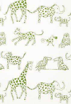 My Favorite - Lulu DK child for Schumacher  Jungle Jubilee  Leaf - #projectnursery #franklinandben #nursery