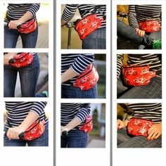 Hip bag tutorial with pattern