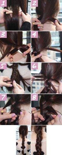Stacked Braid Picture Tutorial - How To Do A Double Braid - Seventeen