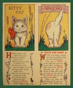 Kitty Cat spool pet card