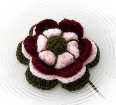 Crochet flower applique corsage brooch  http://www.etsy.com/shop/CraftsbySigita?ref=si_shop