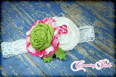 Lime Green, Bubble Gum Pink, Christmas Headband, Hot Pink White Hair Bow, Girl's Flower Hair Accessories, Baby Hair Clip, Infant Hair Piece on Etsy, $16.50
