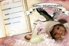 birth certificate Birth And Death, Birth Certificate, Reborn Dolls, Little Boys, I Movie, Marriage, Nursery, Personal Care, Template