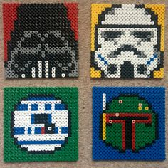 Star Wars coasters from perler beads