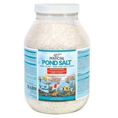 Aquarium Pharmaceuticals Pond Care Pond Salt 9.5 lb Container by Aquarium Pharmaceuticals. $40.68. Pond Care Pond Salt UPC: 317163001561 Manufacture: Aquarium Pharmaceuticals Natural Fish Tonic All-natural sea salt improves gill function, protects against nitrite toxicity & reduces stress by helping maintain a natural balance of electrolytes. Can safely be used with Pond Care water conditioners, filtration materials, medications & fish foods. 9.6 LB (4.35 kg) Treats Up To 1,200 ...